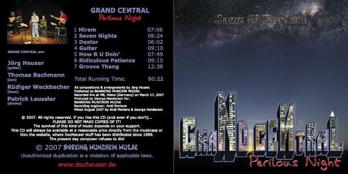 OUT NOW!!!: GRAND CENTRAL - PERILOUS NIGHT - live - click to order now!